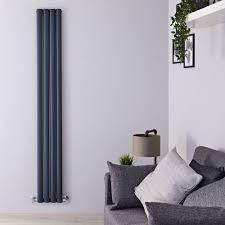 aluminium design heizkörper vertikal anthrazit 1800mm x 230mm 1002w doppellagig revive air