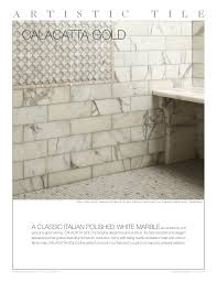artistic tile calacatta gold