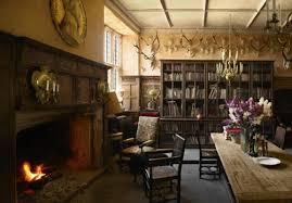 Antique Books Castle Decor England Fireplace Flowers House Interior