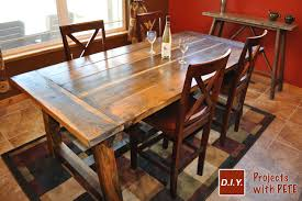 Remarkable Rustic Farm Dining Room Table How To Build A And Bold