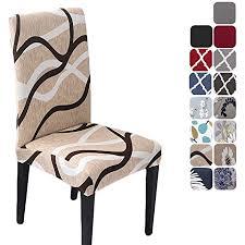 hzdhclh stuhlhussen 6 stück elastische moderne universal stretch beschützer stuhlhussen für stuhl esszimmer hochzeit partys bankett deko