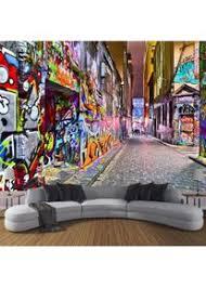 tapete fototapete 3d effekt straßen graffiti wandbild