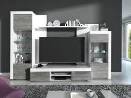 wohnwand wohnzimmer set avio 4 tlg vitrine wandboard tv lowboard weiß grau beton