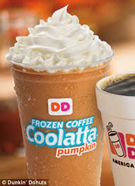 Dunkin Donuts Pumpkin Spice Latte Recipe by How Many Calories Are In Your Favorite Seasonal Drinks Dunkin