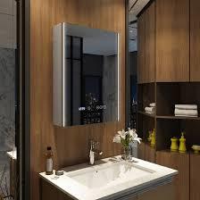 emke 80x60x15 cm led spiegelschrank badezimmerspiegel