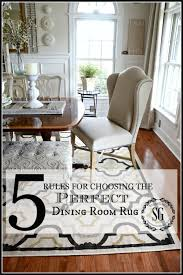 Enthralling Dining Room Rug At 5 RULES For CHOOSING THE PERFECT DINING ROOM RUG StoneGable Home And
