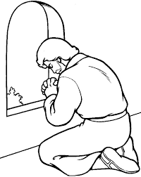 Praying Hands Coloring Picture For Kids