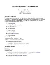ResumeCareer Objective Examples For College Students Finance Intern Resume Objectives Internships Sum Internship Computer