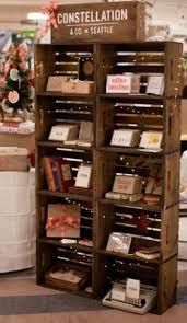 Rustic Wood Stackable Crate Retail Display Product Love This Would Be Really Cool In