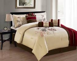 Best forter Set Kohls with Machine Washable Red Brown And Cream