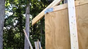 Free 10x12 Gable Shed Plans by Building A 10x12 Shed Part 10 Trusses Youtube