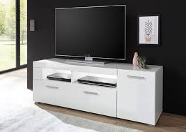 lowboard tv board corado 140cm weiß hochglanz wohnzimmer modern