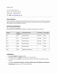 Mechanical Engineering Resume Format Download Luxury Fresher Unique 55 Lovely
