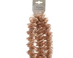 Seashell Christmas Tree Garland by Luxury Copper Bronze Spiral Loop Christmas Tinsel Garland Tree