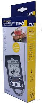 tfa dostmann 14 1512 01 küchen chef digitales grillthermometer bratenthermometer kontrolle der kerntemperatur und garraumtemperatur mit knickschutz