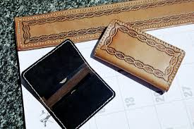 Leather Desk Blotters And Accessories by Western Style Furniture Wood Furniture With Hand Tooled Leather