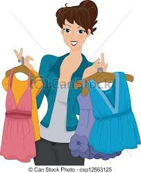 Shopper Girl Illustration Of A Female Shoppers Carrying Vector