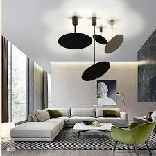 großhandel moderne led deckenleuchte weiß schwarz metall runde innen deckenleuchten leuchte küche bad home lighting luminiare albert ng668 112 08