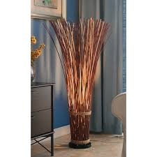 Design Craft Coastal Natural Reed 46 inch Floor Lamp Free