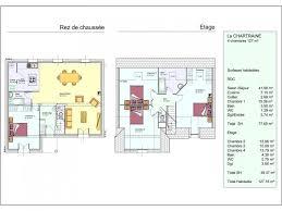 plan maison 4 chambres etage modèle de maison la chartraine 1 étage 4 chambres les résidences