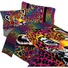lisa frank bedding set wild side leopard print comforter and sheet