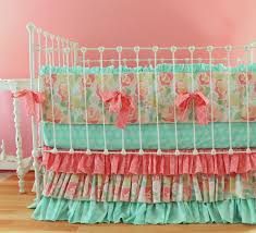 Aqua And Coral Crib Bedding by Aqua And Gray Crib Bedding Pictures Full Free Preloo