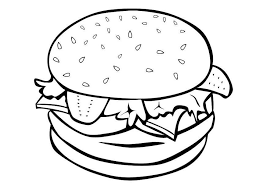 Food Coloring Pages Hamburger