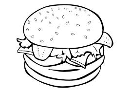 Food Coloring Pages Hamburger