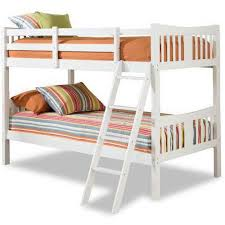 storkcraft caribou solid hardwood twin over twin wood bunk bed