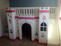bedroom castle slide bed unique princess bunk bed for girls