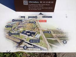overview map of mont st michel with car park tourist centre