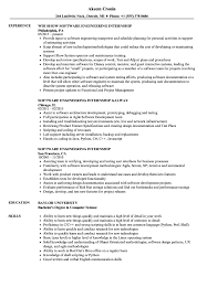 Download Software Engineering Internship Resume Sample As Image File