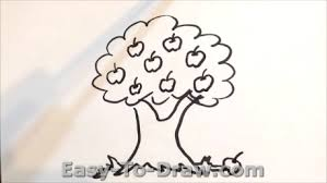 How to draw apple tree 03