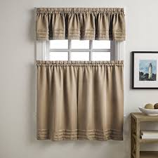 Jcpenney Kitchen Curtains Valances by Addison Solid Twill Rod Pocket Kitchen Curtains Jcpenney