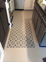 Best Floor For Kitchen 2014 by Remodelaholic High Style Low Cost Painted And Stenciled Floor