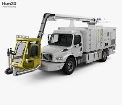 100 Ultimate Semi Trucks Freightliner M2 106 Global 2200 Service Truck 2018 3d Model