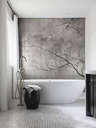 effektvolle wand und raumgestaltung mit fototapete bad