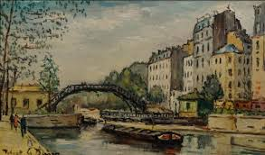 robert le berger 1905 1972 oil on canvas le canal saint platin
