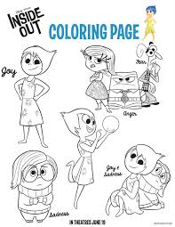 Inside Out Printables Family Activity Sheets The Bandit Lifestyle