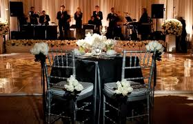 Bride And Groom Table With View Of Stage