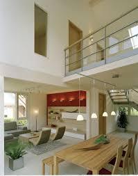 modernes wohn und esszimmer mit galerie luftraum
