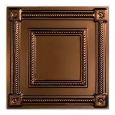 Cheap 2x2 Drop Ceiling Tiles by Fasade Ceiling Tile 2x2 Suspended Coffer In Oil Rubbed Bronze