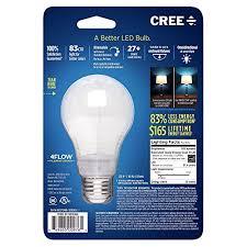 cree ba19 08027omb 12de26 3 1 60w equivalent 2700k a19 led light