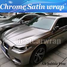 Luxury Frozen Grey Chrome Satin Vinyl Car Wrap Film With Air Bubble ...