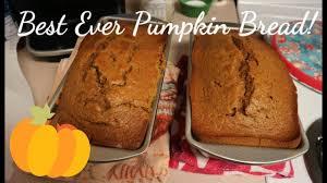Starbucks Pumpkin Loaf Ingredients by The Best Ever Pumpkin Bread Youtube