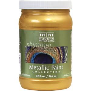 Modern Masters Metallic Paint - Pale Gold, 32oz