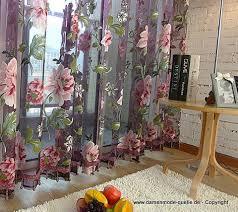 luxus sheer vorhang für küche wohnzimmer mit blumen 250x270