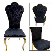 barock stuhl schwarz gold stoff esszimmer büro stuhl modern