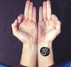 Yoga Aum Ohm Om Black Circle Symbol Tattoo Set