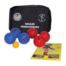 ensemble de 6 boules de pétanque d intérieur sports inter